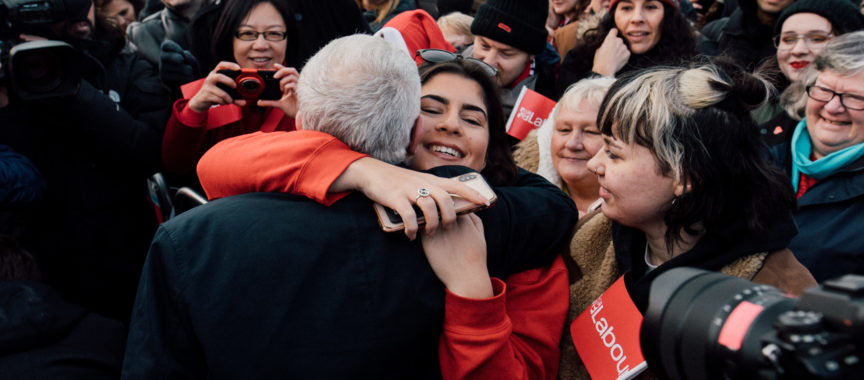 Jeremy Corbyn meets supporters in Middlesbrough, 11 December 2019.