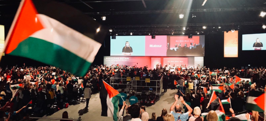 Palestinian flags at labour party conference