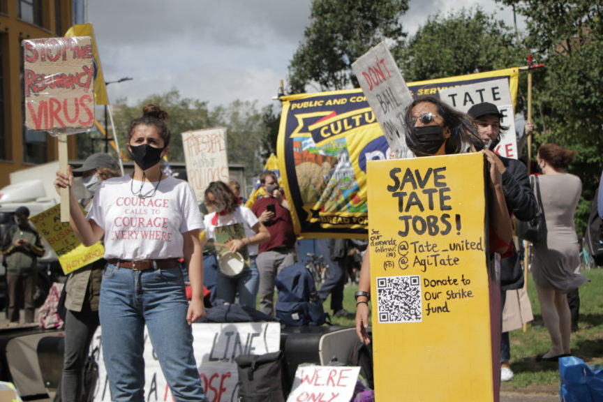 Striking Tate workers