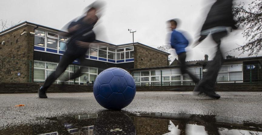 Children on school playground