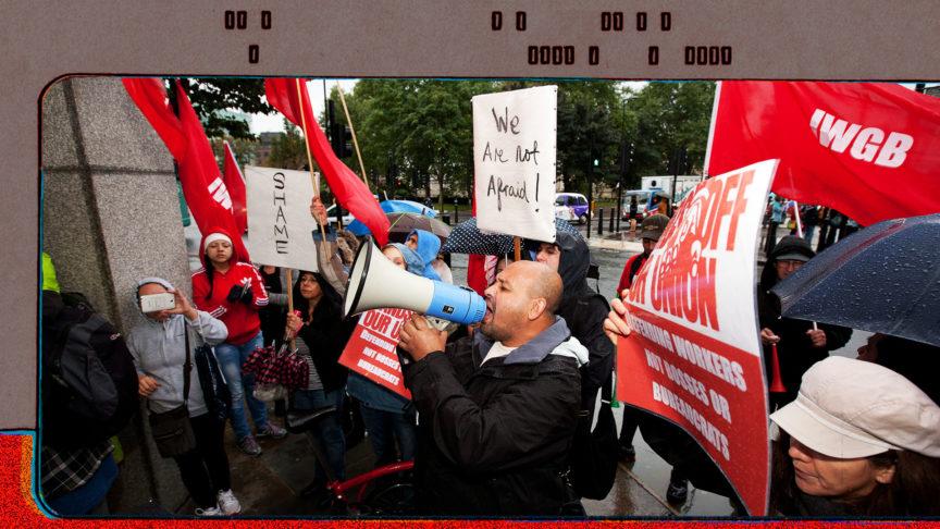 An IWGB demonstration.