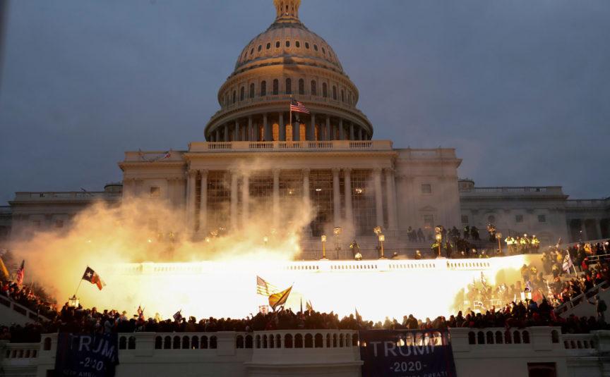trump Capitol building explosion fascism