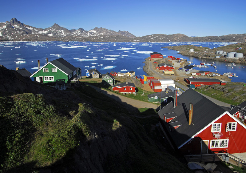 Tasiilaq, a town in the Sermersooq municipality in southeastern Greenland. David Astley/Flickr
