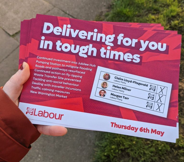 A Labour leaflet attacking GRT communities, from a now-deleted tweet by Labour MP Charlotte Nichols.