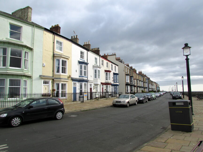A row of terraced houses in Hartlepool, England. Reading Tom/Flickr
