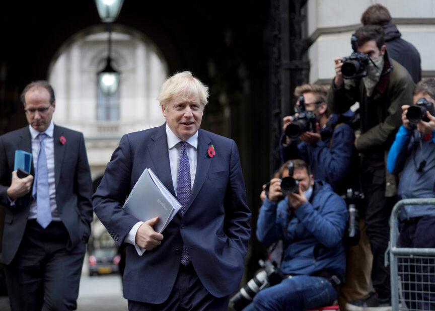 Boris Johnson ahead of a cabinet meeting, November 2020. Pippa Fowles, No 10 Downing Street/Flickr