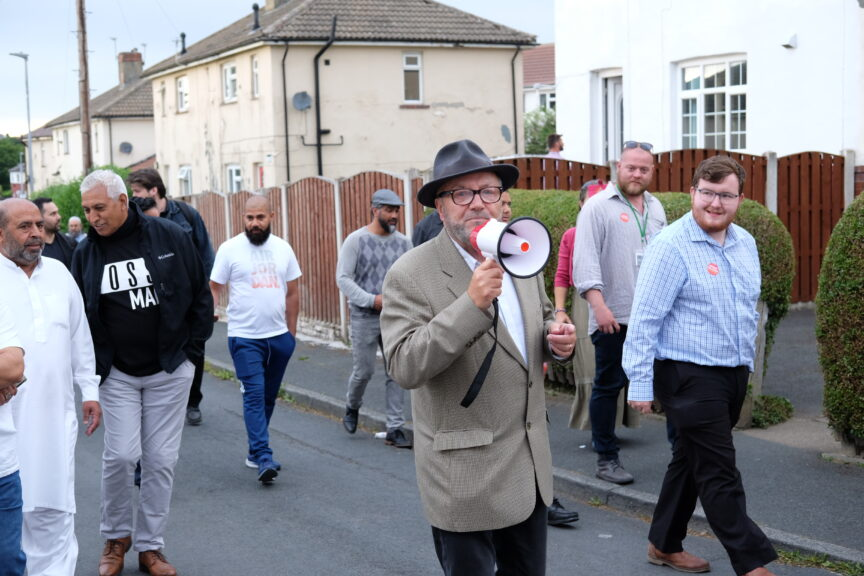George Galloway campaigns in Batley.