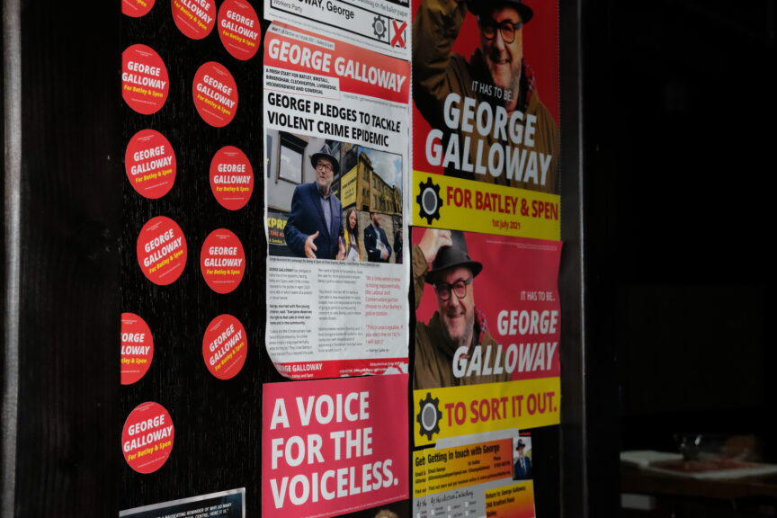 A Galloway poster about tackling crime