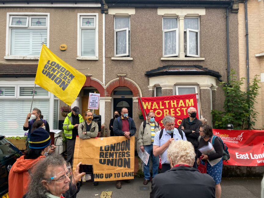 An eviction resistance in north London