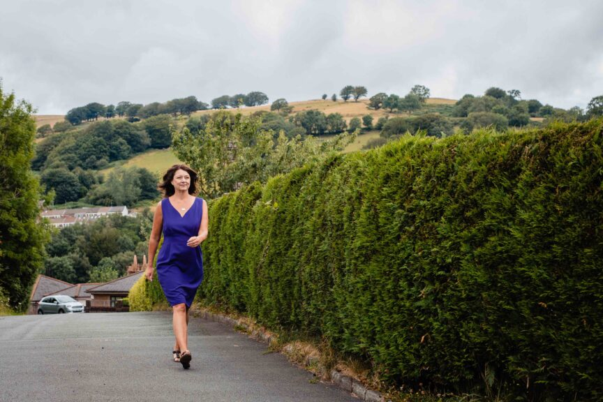Leanne Wood in Porth, Rhondda