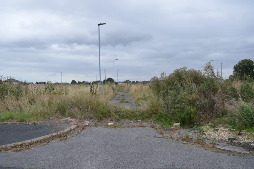 A demolished section of the Preston Road estate, east Hull.