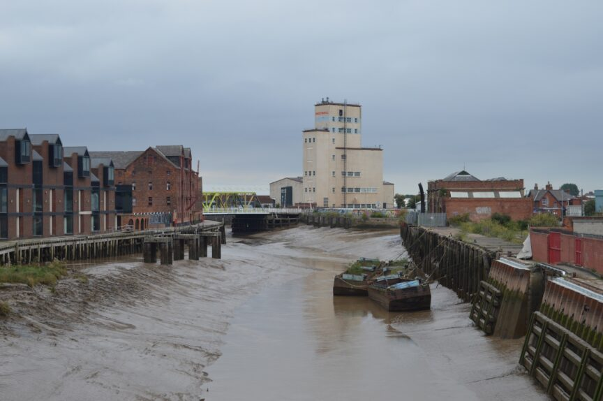 The view towards Drypool on the River Hull.